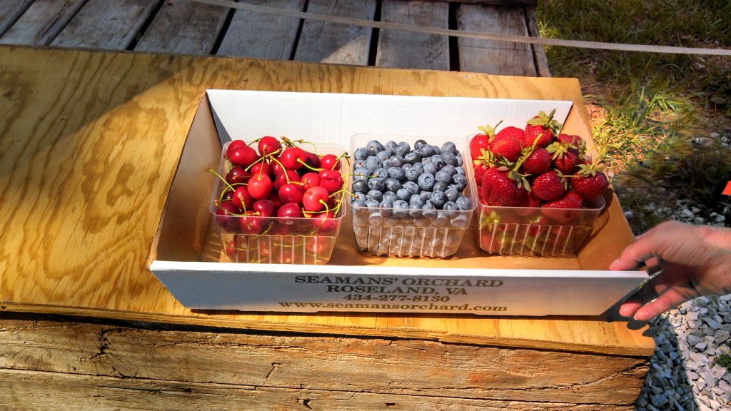 CherryBlueberryStrawberry